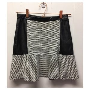 Soprano | NWT Hi-Rise Tweed Skirt W/ Faux Leather
